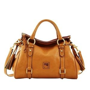 Dooney & Bourke Florentine Satchel Natural Trim